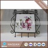 4 hook wrought iron racks for keys