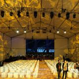 20m by 30m aluminum tent for outdoor corporate events