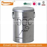 Large Capacity Galvanized Metal pet food container