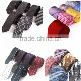 Fashion colorful high quanilty casual woven gingham tie for gentlemen