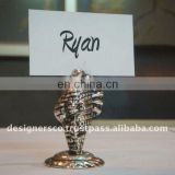 Silver Shell Wedding Favor Place Card Holder