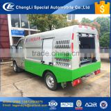 China 2017 high pressure sidewalk cleaning truck narrow road mini flushing car for street communities or big malls