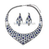 2014 New Rhinestone Earring and Necklace Jewelry Set,Vintage Jewelry Settings Wholesale Dubaa Fashion,Gem Statement Jewelry Set