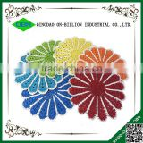 Flower shaped table mats round paper placemats