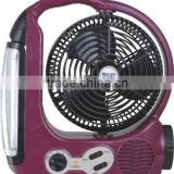 hotsale competitive price rechargeable fan with lamp