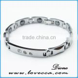 Fashion Classic Carbon Fiber Inlayed Tungsten Bracelet