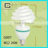 High quality CFL LAMP FULL SPIRAL LAMP 8000H CE 28w umbrella-type energy saving lamps