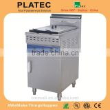 Commercial Kitchen 1 Tank Stainless Steel Gas Deep Fryer