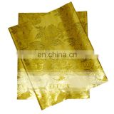 Yellow Most Popular African Serise Head Wear Hottest Design Nigerian Sego Headtie Material In Stock Free