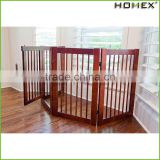 Wood Safety Pet Gate Portable Dog Fence Homex_BSCI Factory