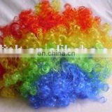 FBW-0034 party fun cheering rianbow afro clown Wig