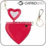 guangzhou supplier heart shape leather key chain key ring cute key holder for decoration