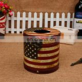 hot selling Handmade 2015 decoratve paper tissue box/napkin case for wholesale