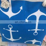 Eco-Friendly Nautical Anchor Market Canvas Tote Bag