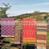 old vintage cotton sari recycled kantha quilts Indian sari quilts wholesale manufacturer