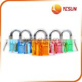 Clear train lock with 2 keys, train padlock