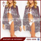 2015 New Fashion Mixed Tile Printed Panelled Smock Beach Cover Up