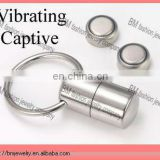 STEEL Vibrating Captive Bead tongue ring body piercing jewelry