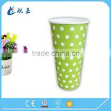 single wall beverage paper cup, 350ml cold beverage cup, double pe coated paper cups