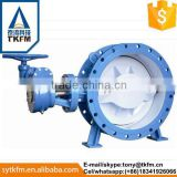 TKFM factory directly sale gear operation low pressure double eccentric electric butterfly valve seal ring
