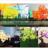 Pink fake cherry blossom tree for wedding decor light