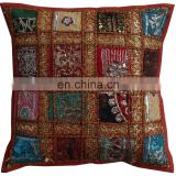 Indian Sequin Sari Patchwork Decorative Sofa Cushion Covers