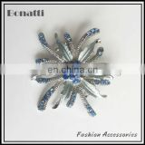 blue crystal shoe decoration for ladies
