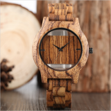 Double layer glasses fashion dressing wooden watches