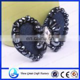 Shoes flowers handmade beaded shoe manufacturer to supply the new crystal beads bowknot shoe flower