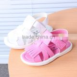 B21378A Summer girls soft Leather Sandals fashion fringed sandals
