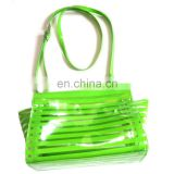 Candy Color Shiny Green Girls PVC Crossbody Bag