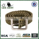 Paracord Belt Camping Climbing Escape Survival Emergency Gear Belt Army Green