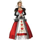 Ladies Queen Of Hearts adult Carnival Costume Halloween Outfit Alice Wonderland AGC069