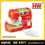 Hot selling play at home pretend toys the plastic mini sewing machine