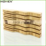 2017 Hot Sale Eco-friendly Customized Cutlery Bamboo Knife Holder/Homex_Factory