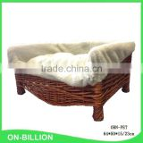 Luxury wicker dog beds with cushion