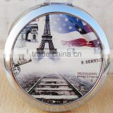 Eiffel Tower Pocket Handbag Compact Makeup Cosmetic Magnifying Mirror Travel Folding Foladble