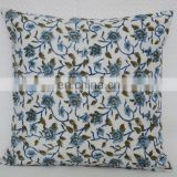 Hand Block Printed Cushion Cover Indian Designer Ethnic Pillow Case Removale Cushion Cover