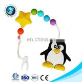 Cartoon Penguin Baby Pacifier Beads Teether Toy Baby NursIng Toys