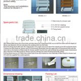 safety foldable wall mounted bath show seat