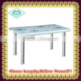 new modern design high quality hot bent tempered glass dining table