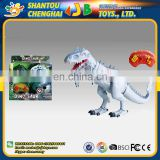 Mini dinosaur plastic light music crawling haking head toys for children