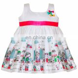 Girl Village Cartoon Printed Frock