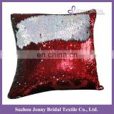 SQP022N JENNY BRIDAL designer embroidered reversible sequin fabric car seat hand work cushion covers