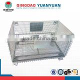 Stackable logistics wiremesh container storage roll cage collapsible pallet box table trolley