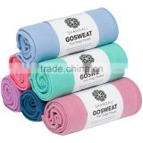 Machine-Washable Factory Wholesale 72''*24'' Logo Embossed Anti-Slip Non-Slip Super Soft Microfiber Woven Sports Yoga Mat Towel