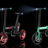 Ivelo Electric Folding Bike Small Electric Car with Pedal, Smart LED Display, LED Headlight and Taillight