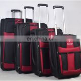 Stock 4pcs luggage set alloy trolley soft material wheeled luggage sets