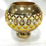 oval pearlized porcelain vase resin vase factory price