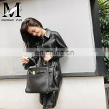 New Design Fit Long Sleeve Real Leather Official Coat Sex in A Long Leather Coat